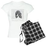 Standard Poodle (Parti) Women's Light Pajamas