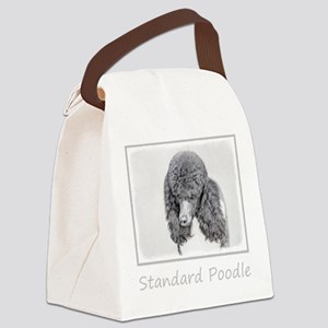 Standard Poodle (Parti) Canvas Lunch Bag