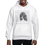 Standard Poodle (Parti) Hooded Sweatshirt