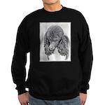 Standard Poodle (Parti) Sweatshirt (dark)
