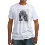 Standard Poodle (Parti) Fitted T-Shirt