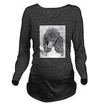 Standard Poodle (Par Long Sleeve Maternity T-Shirt