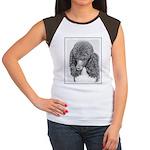 Standard Poodle (Parti Junior's Cap Sleeve T-Shirt