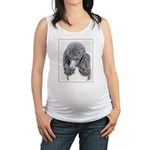 Standard Poodle (Parti) Maternity Tank Top
