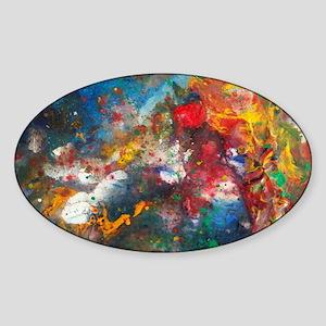 Urban Brain Fog Art Sticker (Oval)