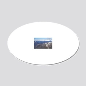 New Zealand - aerial (filmin 20x12 Oval Wall Decal