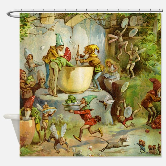 book of gnomes007_SQ3 Shower Curtain