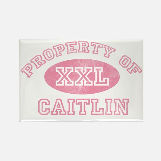 Property-of-Caitlin Rectangle Magnet