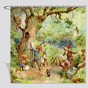 book of gnomes005_SQ Shower Curtain