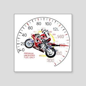 "Fractal Speed 2 Square Sticker 3"" x 3"""