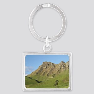 Cows and farmland below Te Mata Landscape Keychain