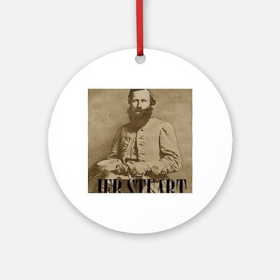General Jeb Stuart Round Ornament