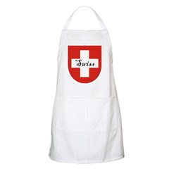 Swiss Flag Crest Shield BBQ Apron