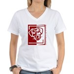 Year of the Dog Women's V-Neck T-Shirt