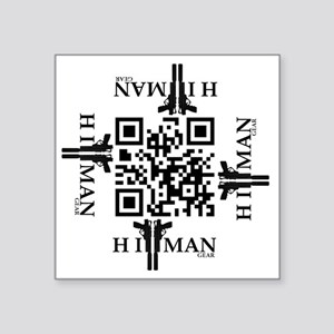 "property of hitman2 Square Sticker 3"" x 3"""