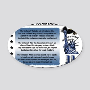 Lasting Sight blue done copy Oval Car Magnet