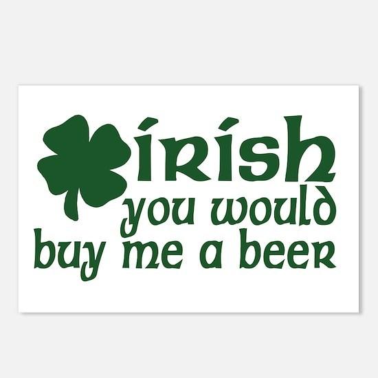 Irish Buy Me a Beer Shamrock Postcards (Package of