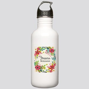 Painted Floral Persona Stainless Water Bottle 1.0L