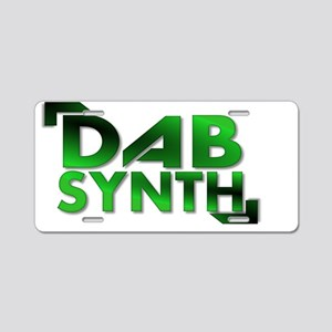 Dabsynth Green Large Aluminum License Plate