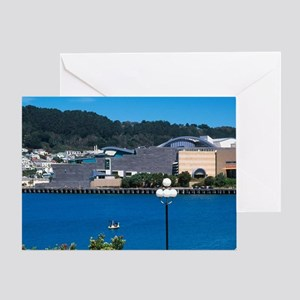 New Zealand, Waterfront, Wellington Greeting Card