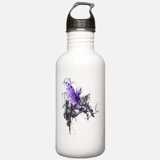 150 res pink skull Water Bottle