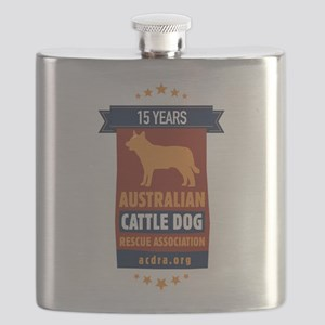 15 Year Acdra Logo Flask