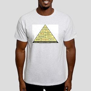 Maslow's Student Nurse Hierarchy Light T-Shirt