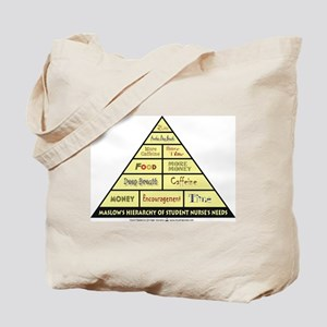 Maslow's Student Nurse Hierarchy Tote Bag