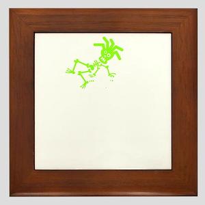Ride like you stole it green white Framed Tile
