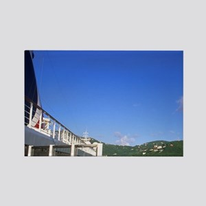 Ferry carrying tourists to Road T Rectangle Magnet