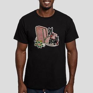 Scottish Terrier Chris Men's Fitted T-Shirt (dark)