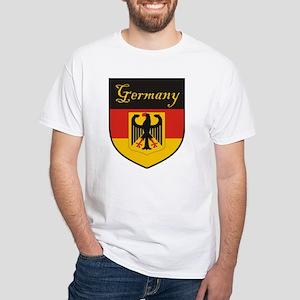 Germany Flag Crest Shield White T-Shirt
