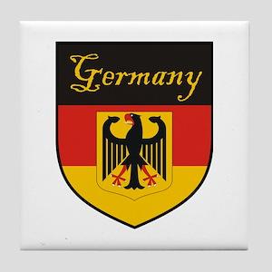 Germany Flag Crest Shield Tile Coaster