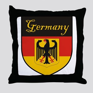 Germany Flag Crest Shield Throw Pillow