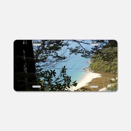 View of Sandfly Bay from Ab Aluminum License Plate