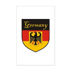 Germany Flag Crest Shield Posters