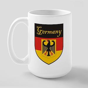 Germany Flag Crest Shield Large Mug