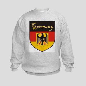 Germany Flag Crest Shield Kids Sweatshirt