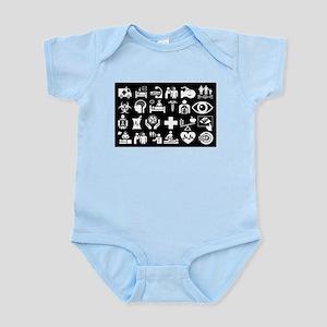 Medical Icons Dr.Stuff Baby Light Bodysuit