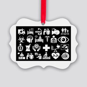 Medical Icons Dr.Stuff Picture Ornament