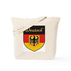 Deutsch Flag Crest Shield Tote Bag