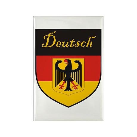 Deutsch Flag Crest Shield Rectangle Magnet