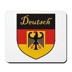 Deutsch Flag Crest Shield Mousepad