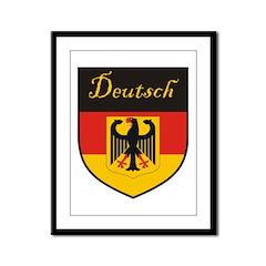 Deutsch Flag Crest Shield Framed Panel Print
