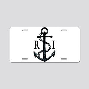Rhode Island Anchor Aluminum License Plate