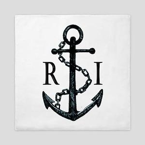 Rhode Island Anchor Queen Duvet
