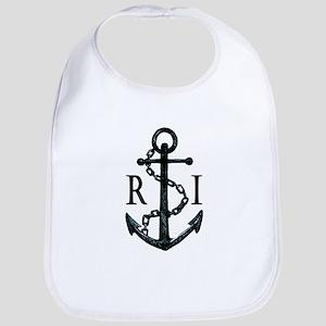Rhode Island Anchor Baby Bib