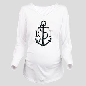Rhode Island Anchor Long Sleeve Maternity T-Shirt