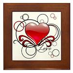 Love Swirls Framed Tile