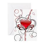 Love Swirls Greeting Cards (Pk of 10)